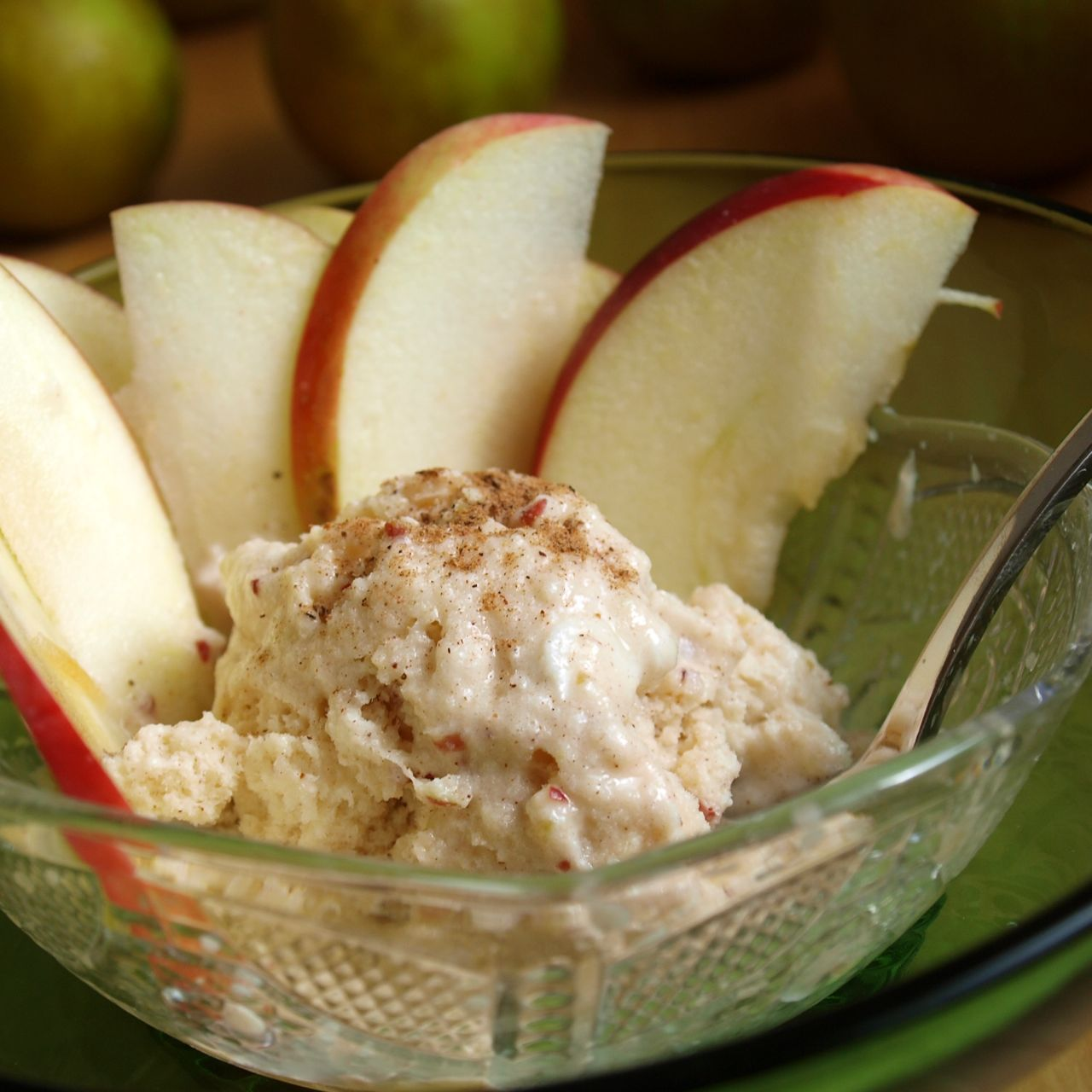 Apple Pie Ice Cream - Shockingly Healthy