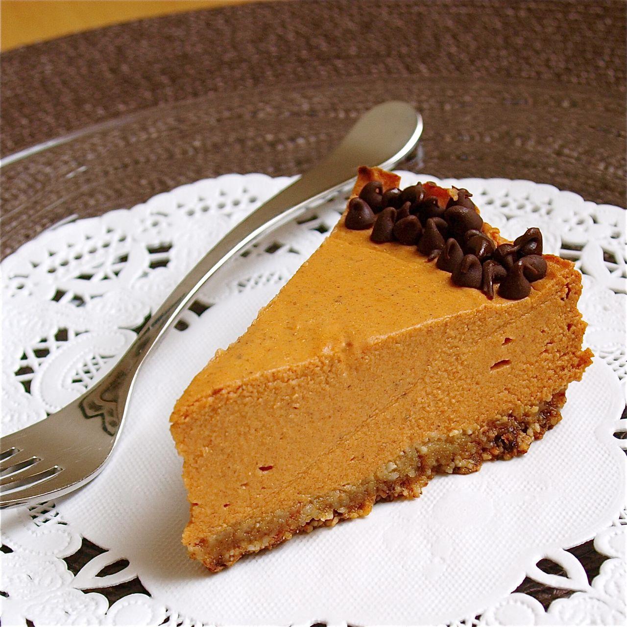 Pumpkin Ricotta Cheesecake - meknun.com