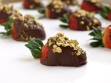 chocolate dipped strawberries with pistachio